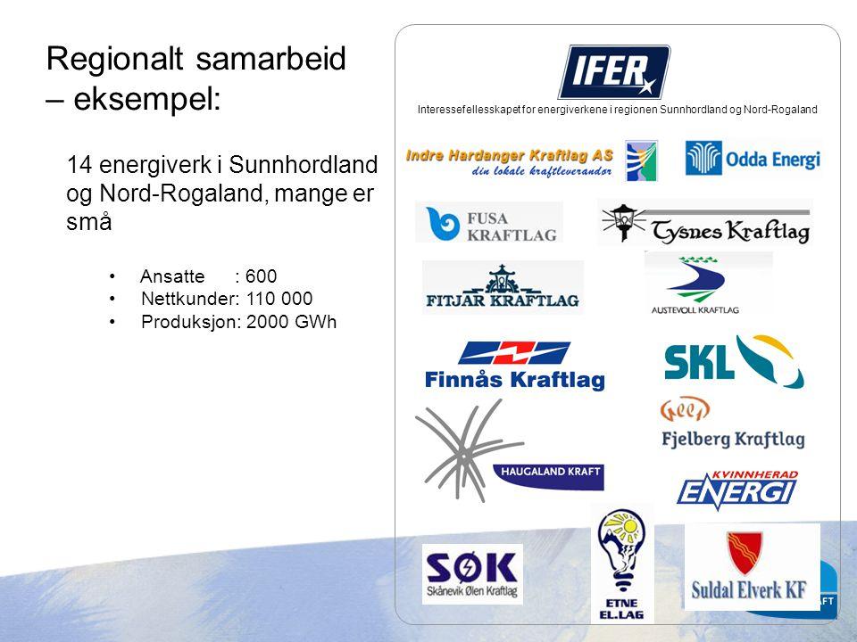 Interessefellesskapet for energiverkene i regionen Sunnhordland og Nord-Rogaland 14 energiverk i Sunnhordland og Nord-Rogaland, mange er små • Ansatte