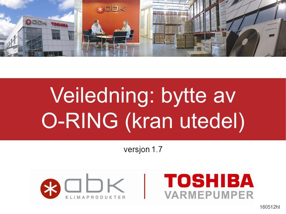 Veiledning: bytte av O-RING (kran utedel) versjon 1.7 160512hl