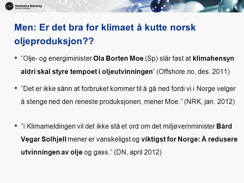 6 Men: Er det bra for klimaet å kutte norsk oljeproduksjon?.