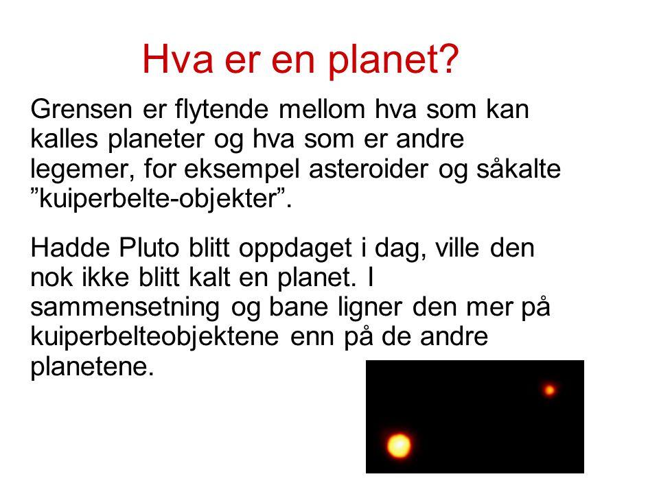 """Hva er en planet? Grensen er flytende mellom hva som kan kalles planeter og hva som er andre legemer, for eksempel asteroider og såkalte """"kuiperbelte-"""