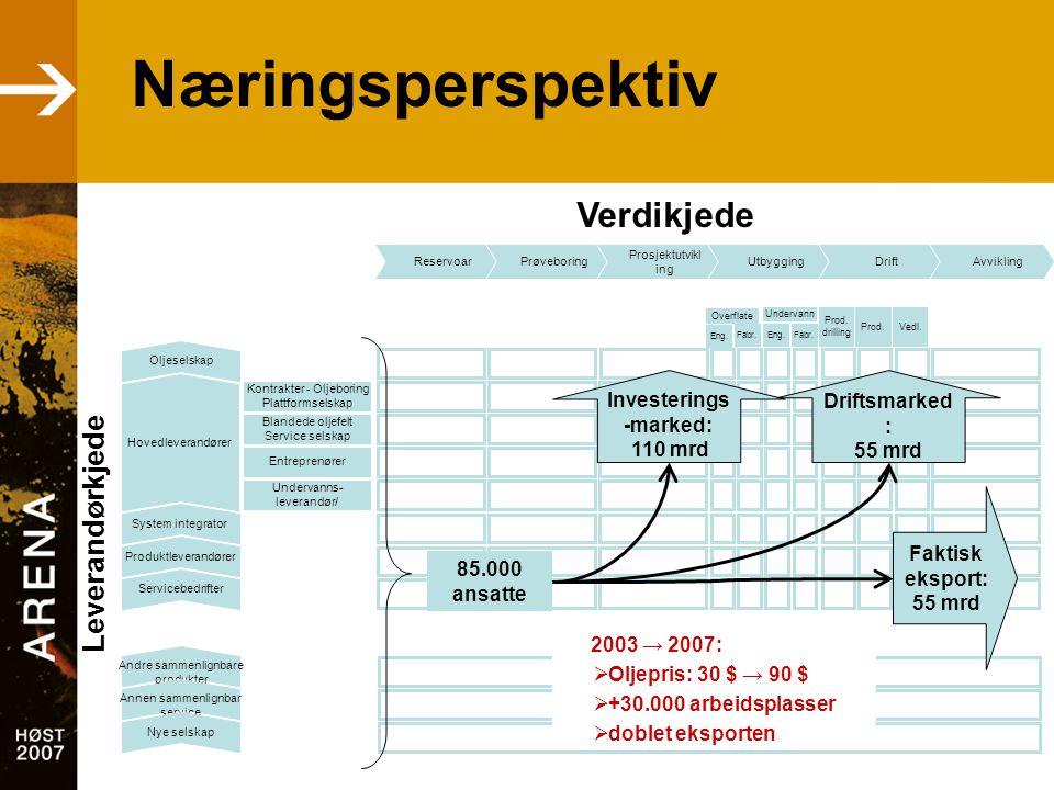Vi har lært •Kunnskapsmiljøer med spisskompetanse må bygges opp •Nordland har industrikompetanse •Leverandørnettverk gjør bedriftene i stand til å konkurrere Klarer vi å jobbe mot et felles mål?