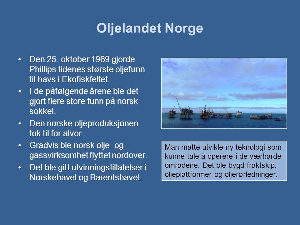 Oljelandet Norge •Den 25.