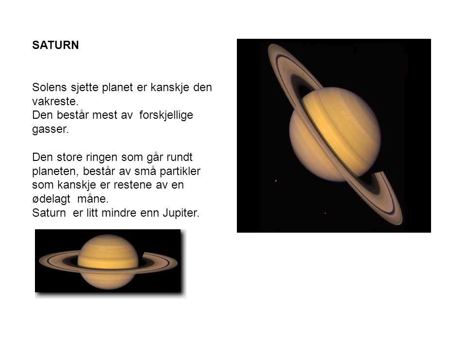 SATURN Solens sjette planet er kanskje den vakreste.