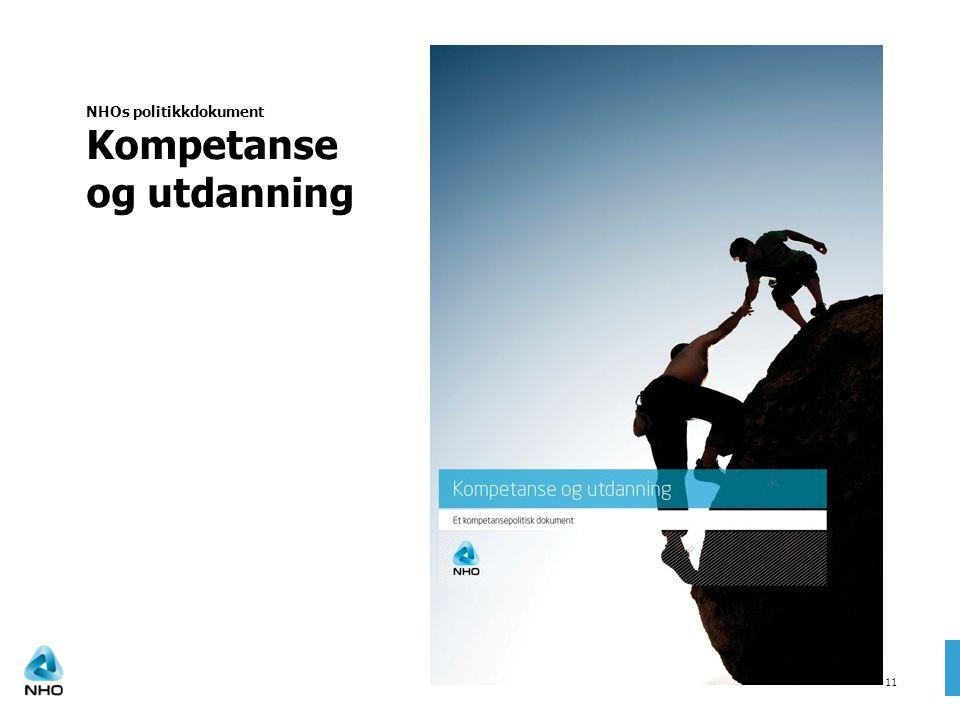 NHOs politikkdokument Kompetanse og utdanning 21 11
