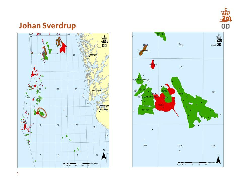Fordeling av utvinnbare ressurser per 31.12.2012 16 Totale ressurser 2012: 13,6 mrd Sm³ o.e.