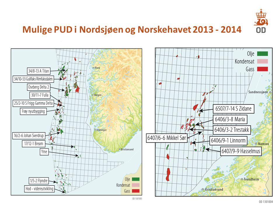 Mulige PUD i Nordsjøen og Norskehavet 2013 - 2014 8