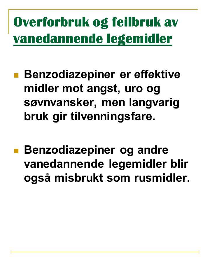 Trafikkfarlige legemidler  Mange legemidler gir nedsatt kjøreferdighet ved at de gir døsighet m.m.