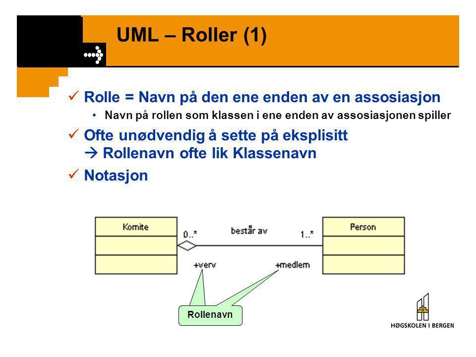 """id UML – Kvalifisert assosiasjon (2)  Eksempel •""""For hver produktkatalog og id finnes en unik vare"""" •""""For hver produktkatalog finnes mange varer, som"""