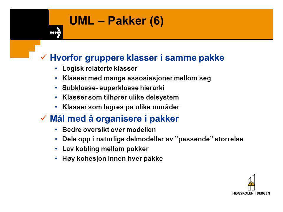 UML – Pakker (5)  Eksempel 3 – POS •Fig 27.21: OversiktFig 27.21 •Fig 27.22: YmseFig 27.22 •Fig 27.23: BetalingFig 27.23 •Fig 27.25: SalgFig 27.25 •F