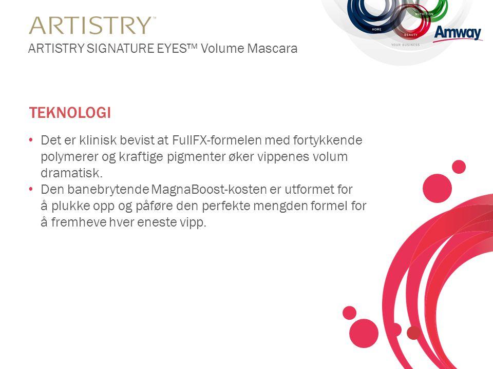 • Det er klinisk bevist at FullFX-formelen med fortykkende polymerer og kraftige pigmenter øker vippenes volum dramatisk.