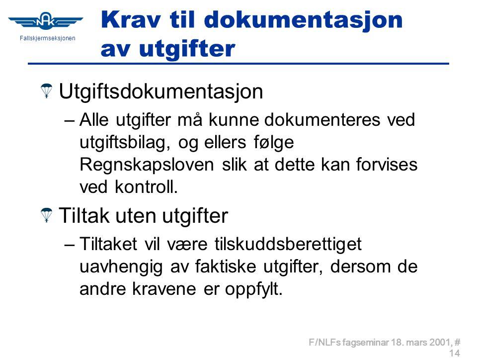 Fallskjermseksjonen F/NLFs fagseminar 18.