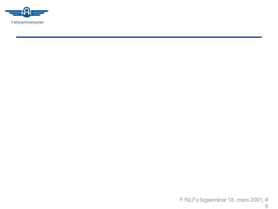 Fallskjermseksjonen F/NLFs fagseminar 18. mars 2001, # 9