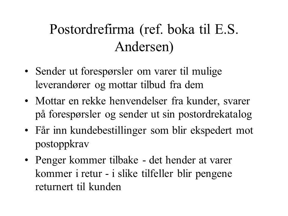 Postordrefirma (ref. boka til E.S.