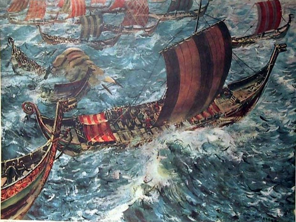 Vikingskipene Vikingskipene hadde god plass til både folk, varer, husdyr og mer til. De stakk ikke dypt ned i vannet. Når Gokstadskipet var fullastet