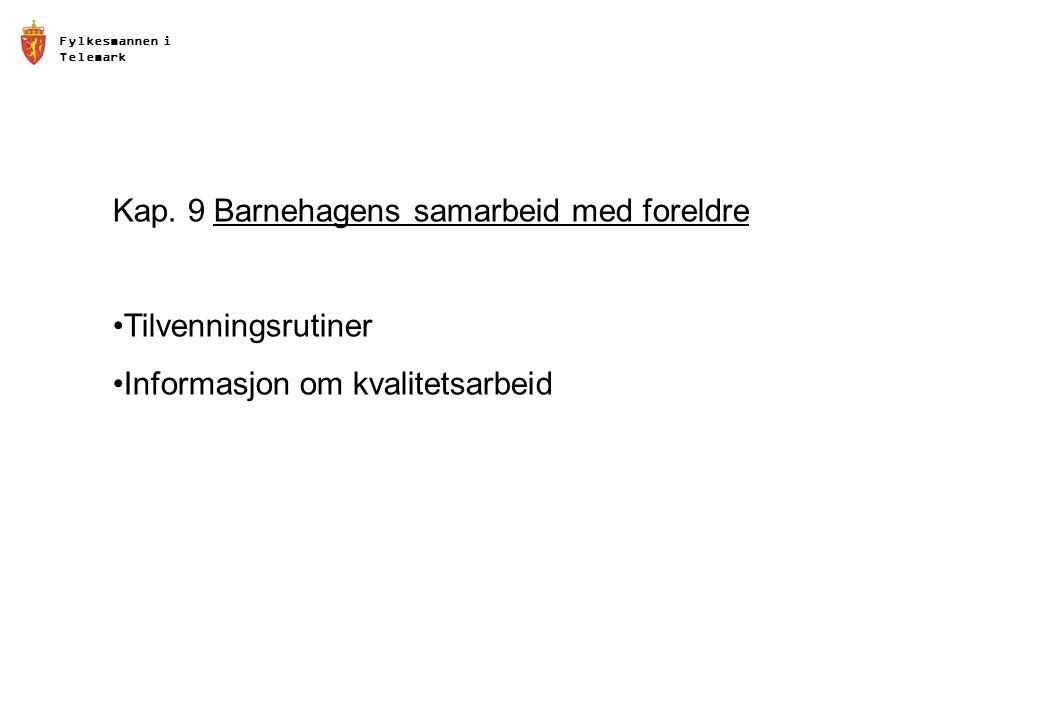 Fylkesmannen i Telemark Kap.