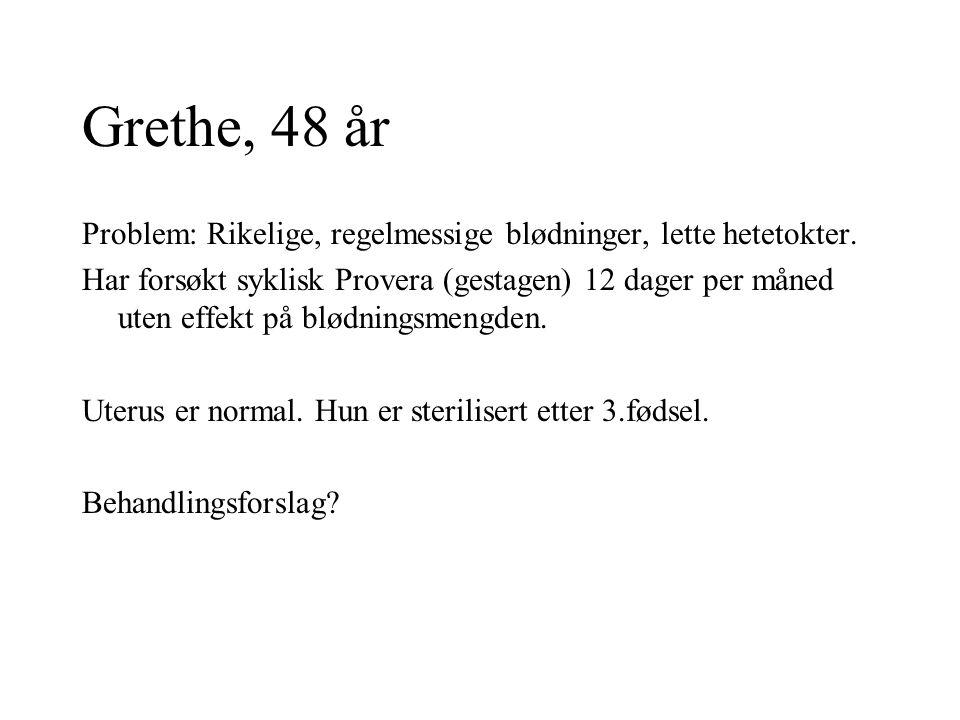 Hanne, 38 år Kontakter lege for intermenstruelle blødninger.