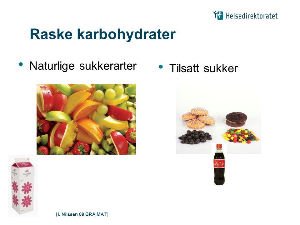 H. Nilssen 09 BRA MAT|| Raske karbohydrater • Naturlige sukkerarter • Tilsatt sukker