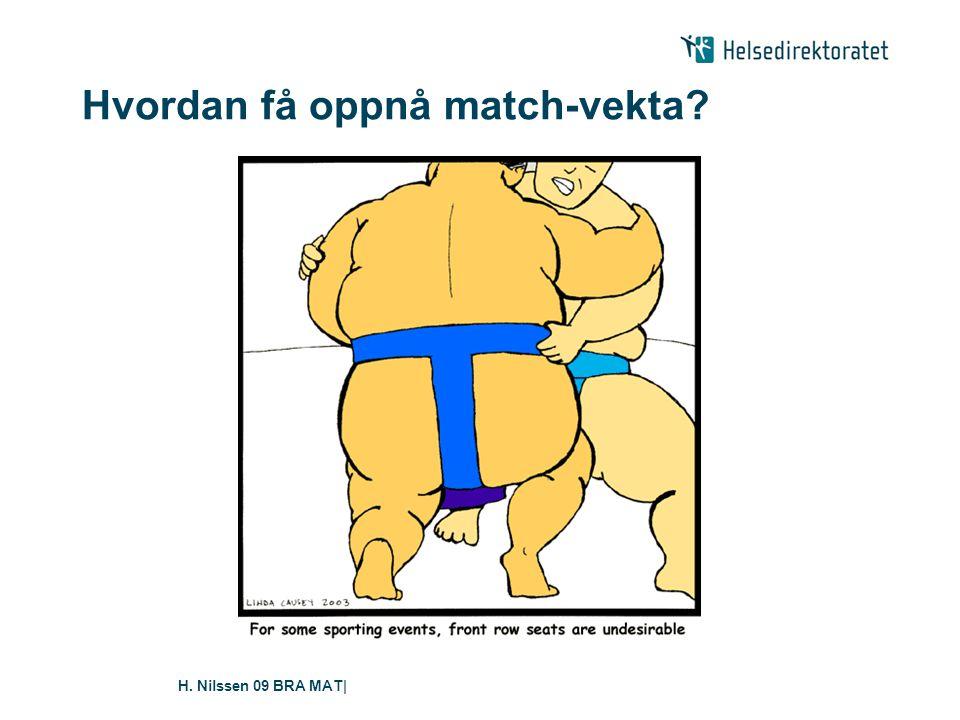 H. Nilssen 09 BRA MAT| Hvordan få oppnå match-vekta?