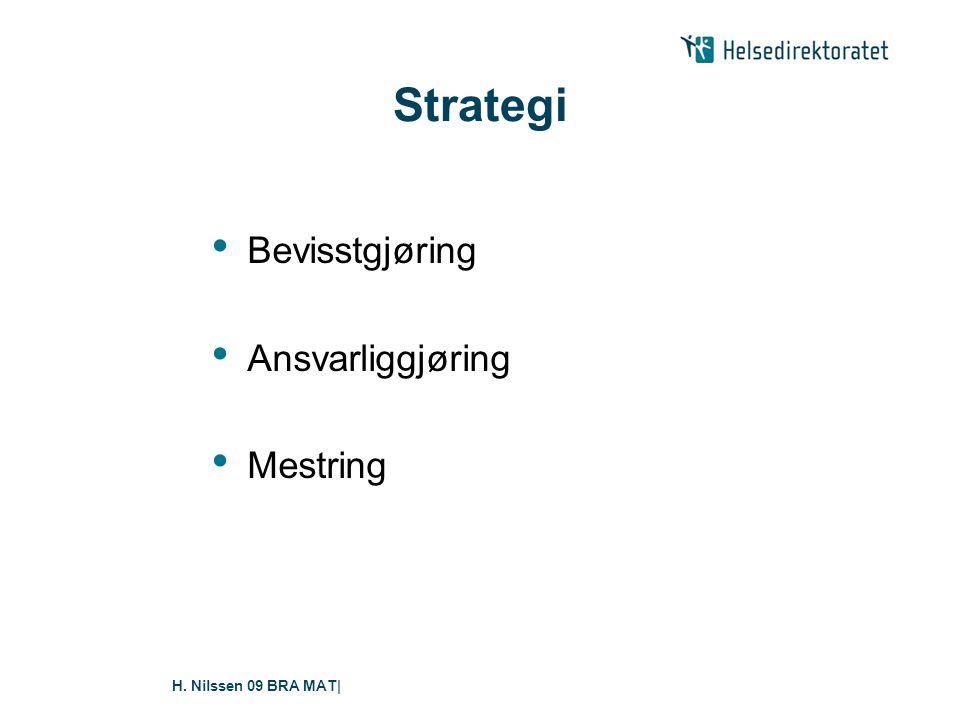 H. Nilssen 09 BRA MAT  Sentralt i mestringsstrategien er: • Motivasjon • Vanebygging