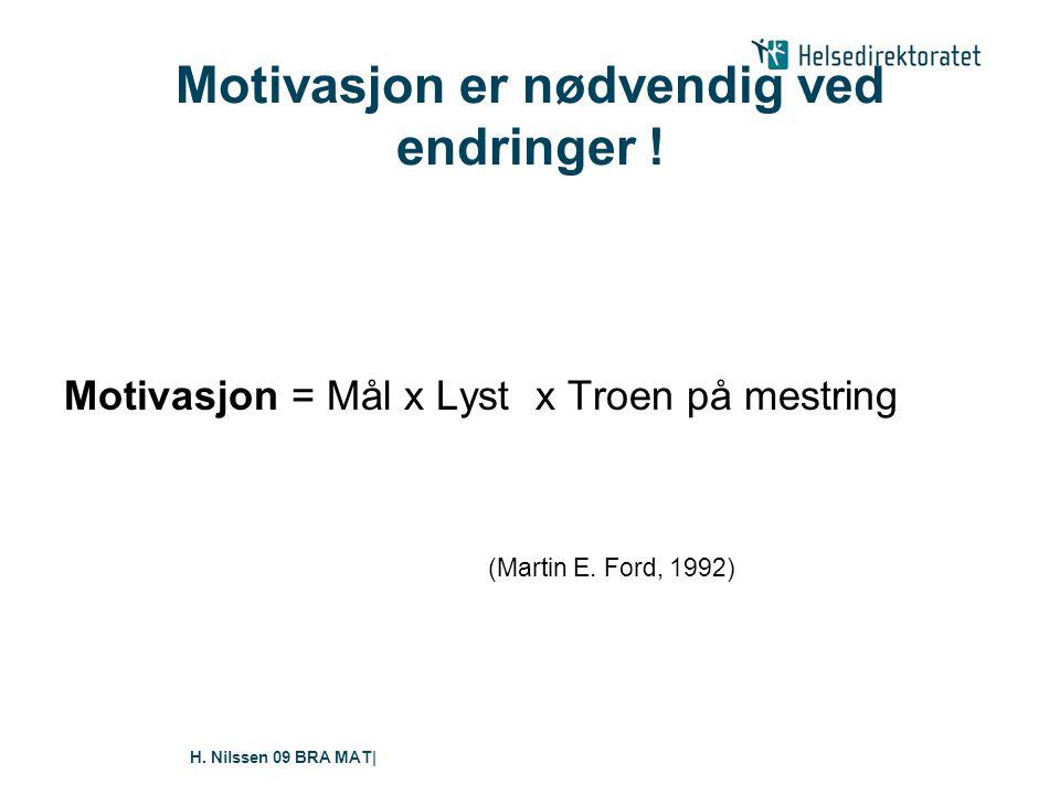 H.Nilssen 09 BRA MAT| Motivasjon er nødvendig ved endringer .