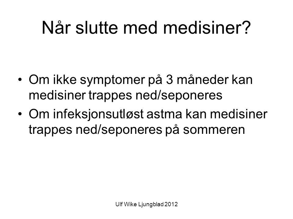 Ulf Wike Ljungblad 2012 Når slutte med medisiner.