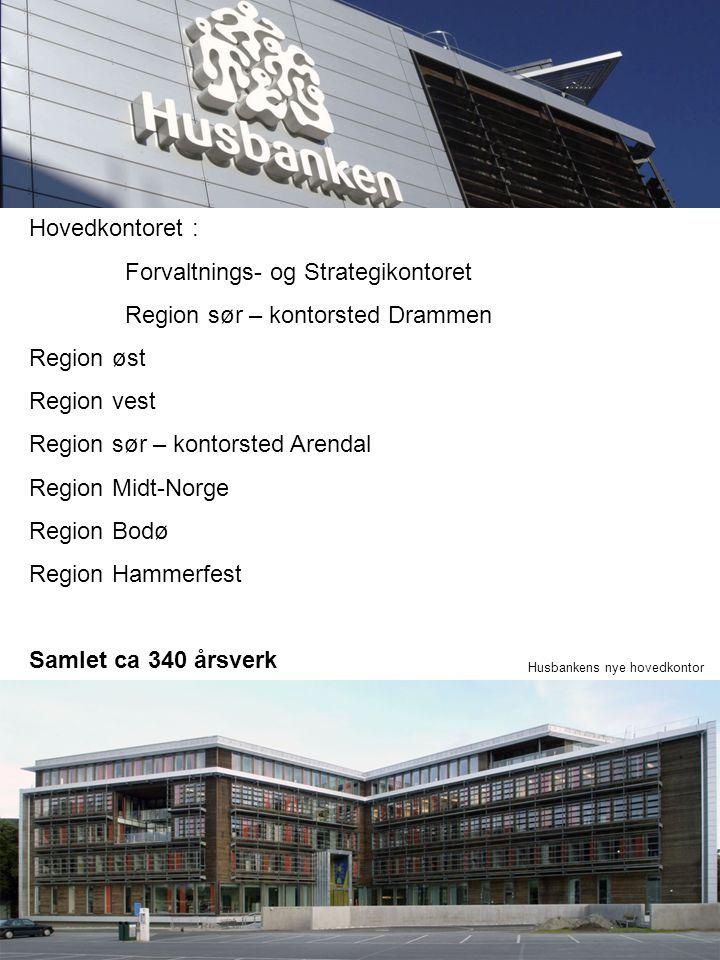 Hovedkontoret : Forvaltnings- og Strategikontoret Region sør – kontorsted Drammen Region øst Region vest Region sør – kontorsted Arendal Region Midt-N