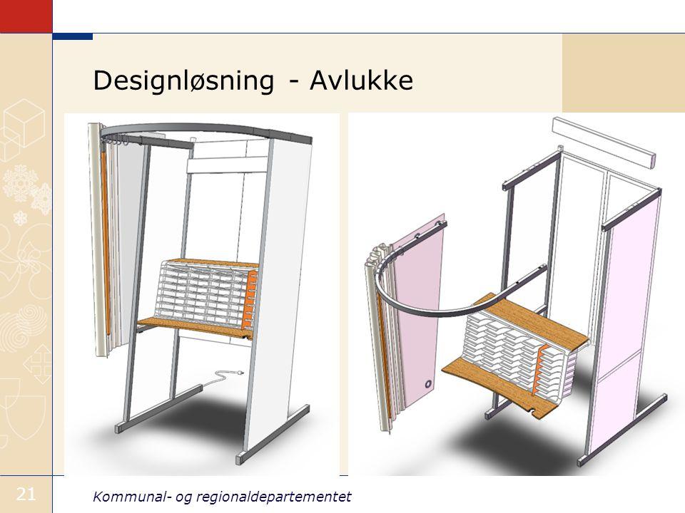 Kommunal- og regionaldepartementet 21 Designløsning - Avlukke