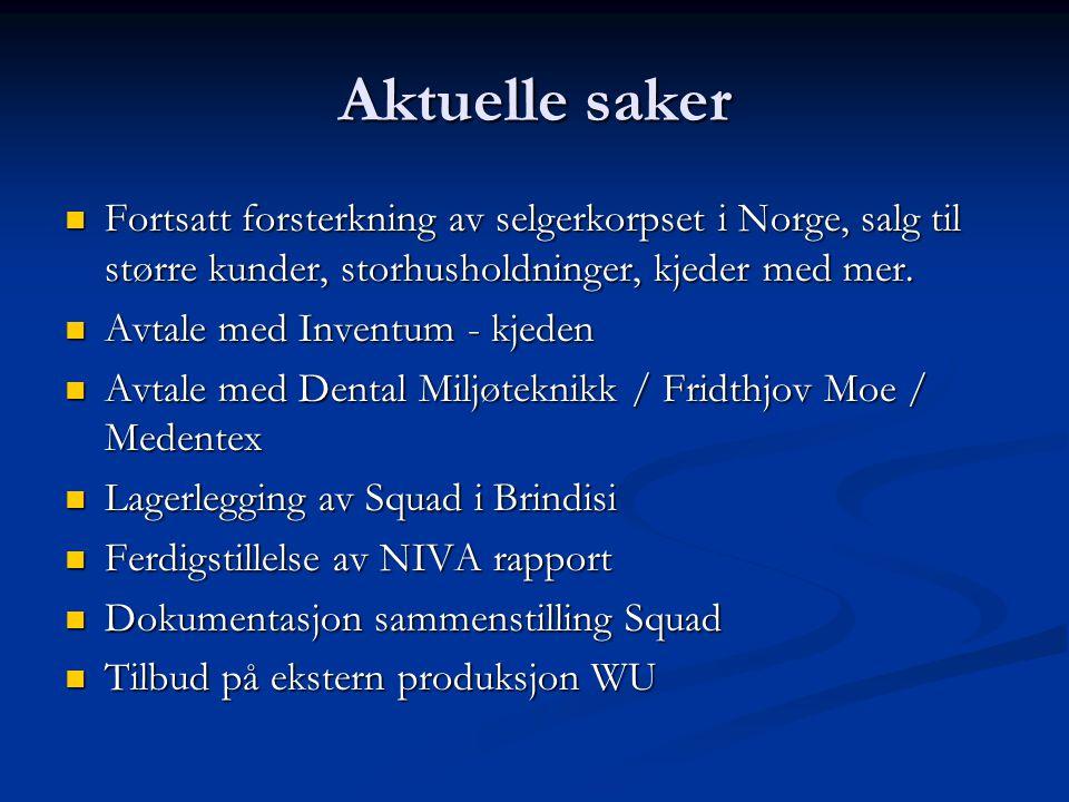 Utviklingen i 2008  Vi forventer at salget i Norge utvikler seg positivt.