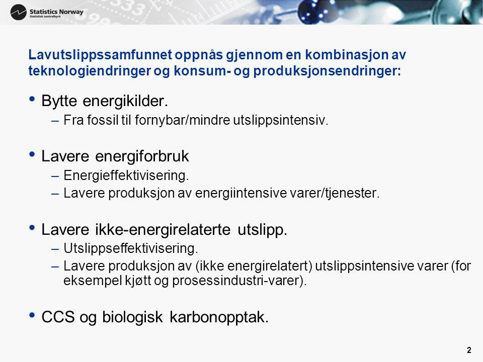 Norge og «Resten av Verden» • Hva ønsker man å oppnå med den Norske klimapolitikken.