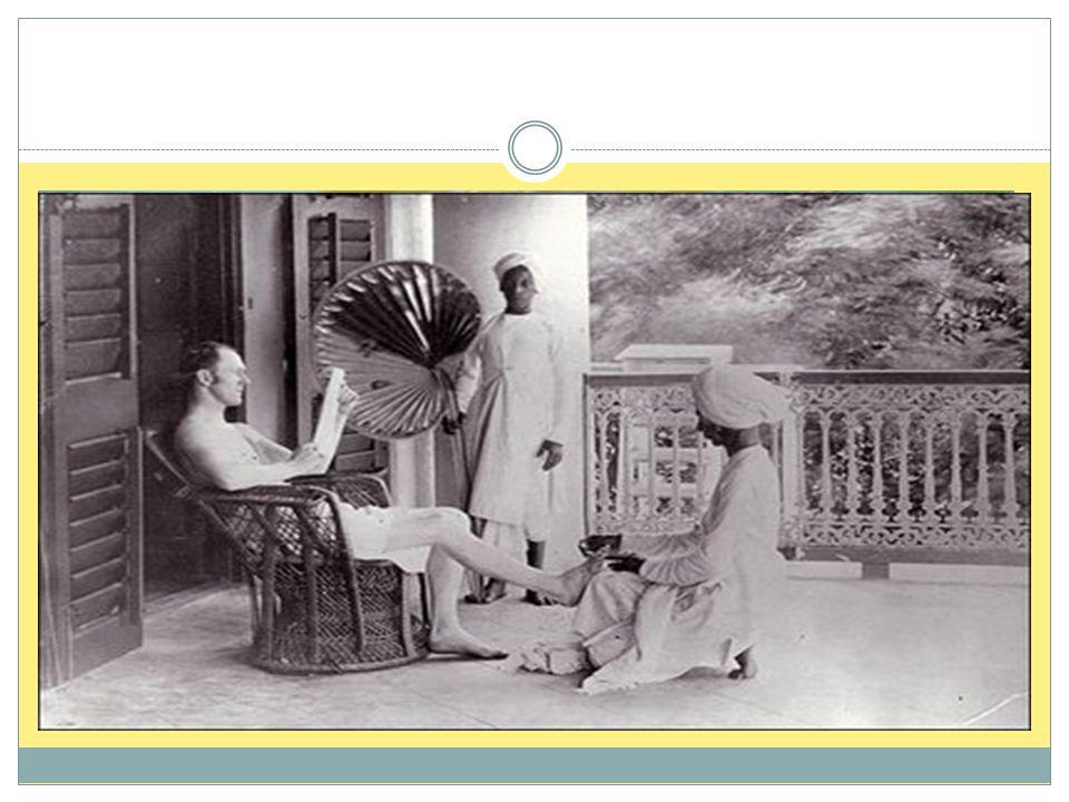  På 1800-tallet ble India en britisk koloni  Det ostindiske kompaniet var en organisasjon med egne rettigheter, hær og makt som hadde hatt full kont