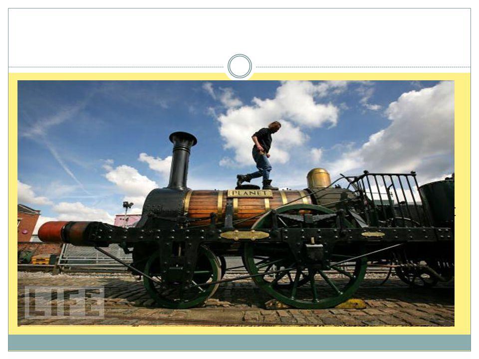  Produksjon av jernprodukter krevde store mengder kull  «Jernbanealderen» startet i 1830, med linjen mellom Manchester og Liverpool  Selv om flere