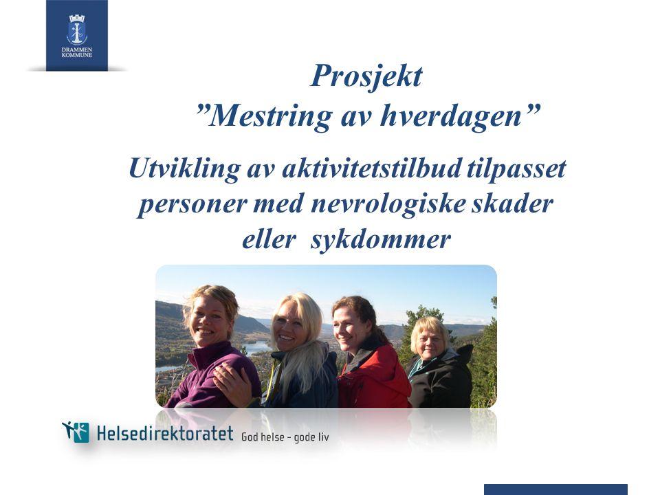 Prosjekt Mestring av hverdagen Utvikling av aktivitetstilbud tilpasset personer med nevrologiske skader eller sykdommer