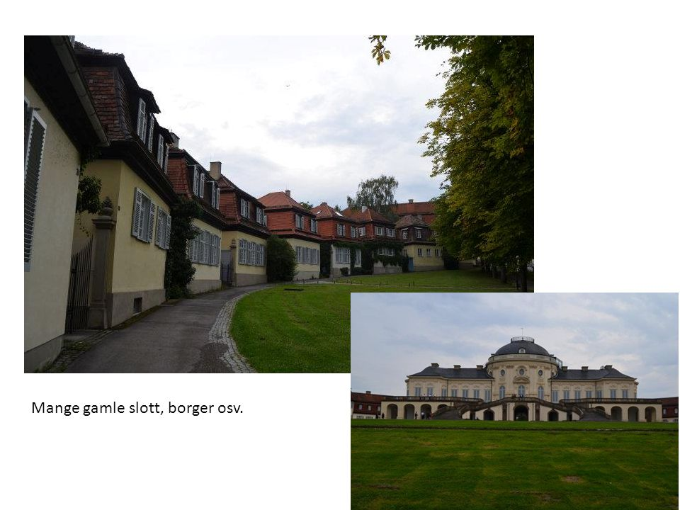 Mange gamle slott, borger osv.