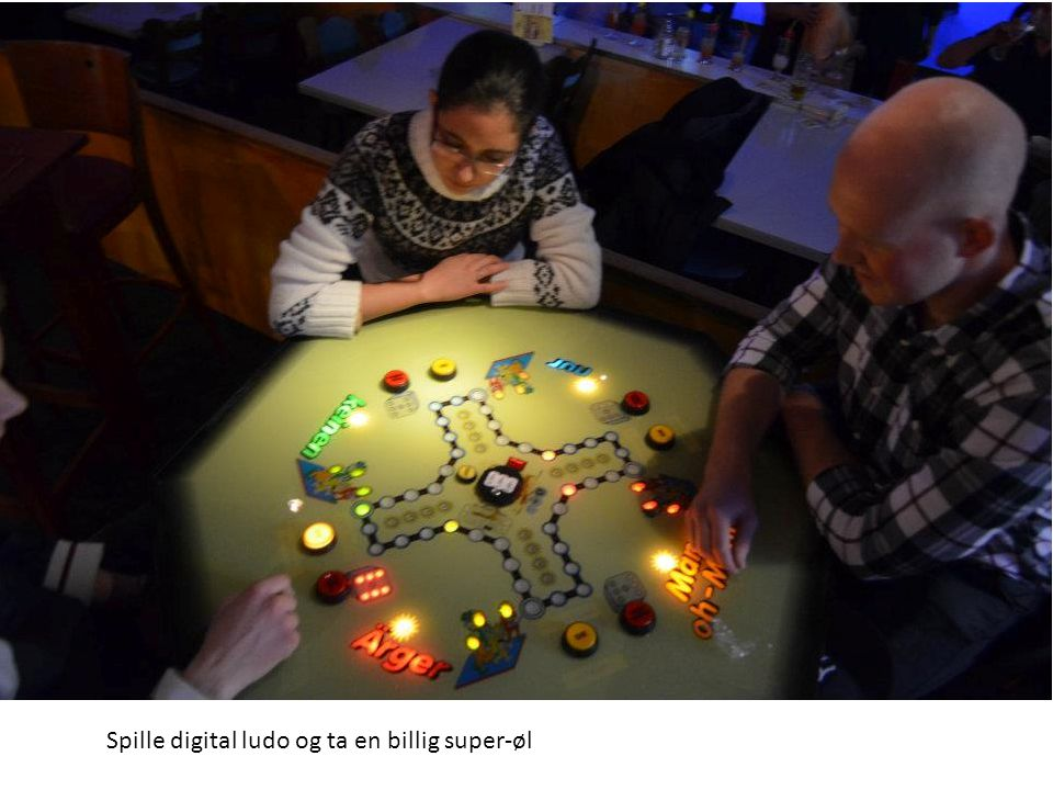 Spille digital ludo og ta en billig super-øl