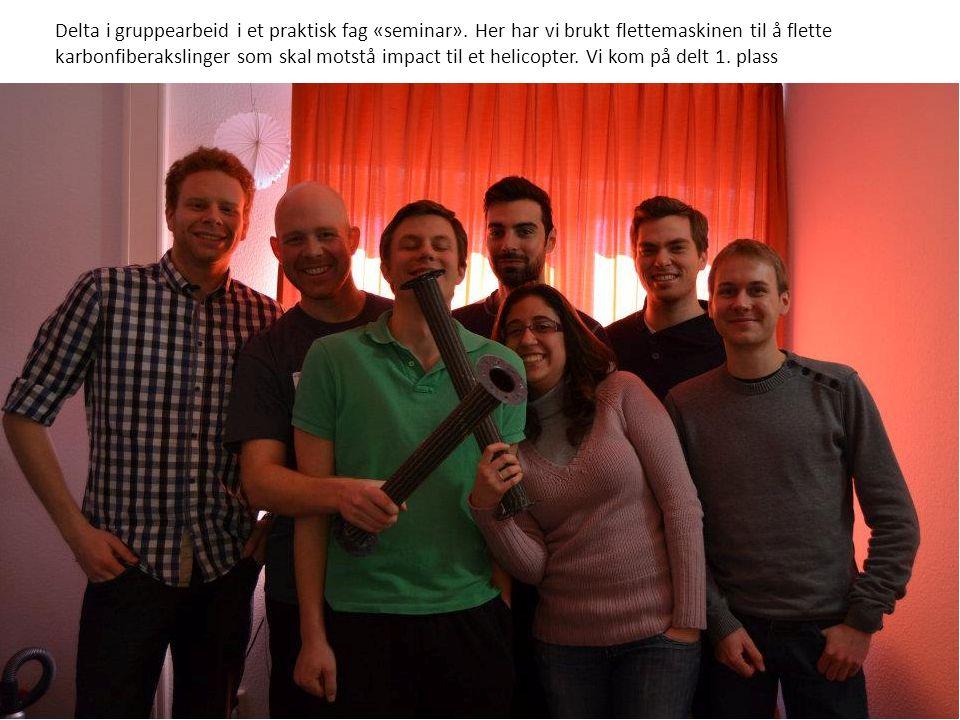 Delta i gruppearbeid i et praktisk fag «seminar».
