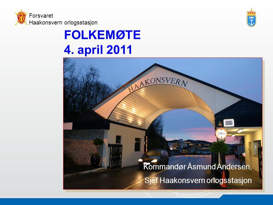 05.07.20142 Åsmund AndersenHOS - presentasjon Forsvaret Haakonsvern orlogsstasjon Marinebaser Ramsund/Trondenes Haakonsvern hovedbase Marinebaser