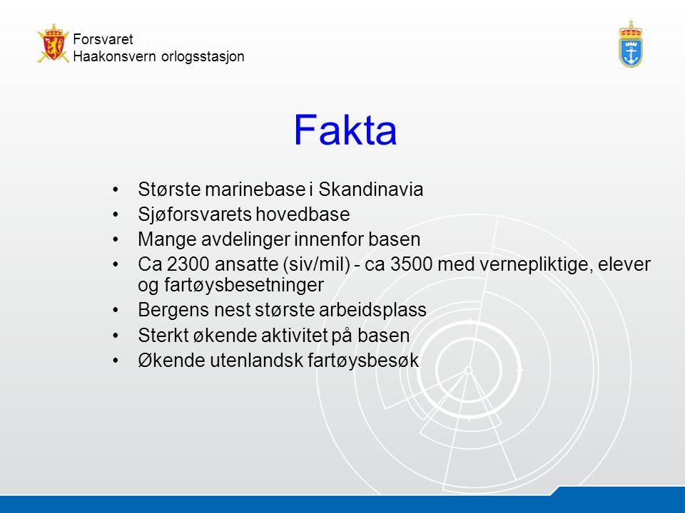 05.07.20144 Åsmund AndersenHOS - presentasjon Forsvaret Haakonsvern orlogsstasjon Fakta •Største marinebase i Skandinavia •Sjøforsvarets hovedbase •Ma