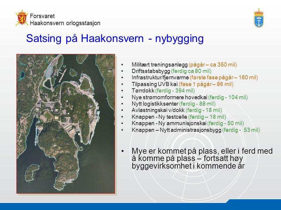 05.07.20145 Åsmund AndersenHOS - presentasjon Forsvaret Haakonsvern orlogsstasjon Satsing på Haakonsvern - nybygging •Militært treningsanlegg (pågår –