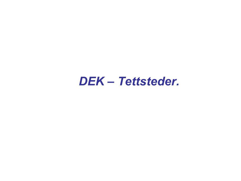 DEK – Tettsteder.