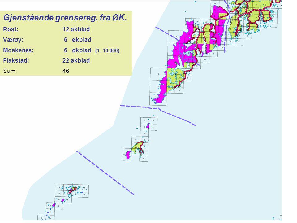 Areal utenfor ØK-dekning.DEK er bare etablert fullstendig i områder dekket av ØK.