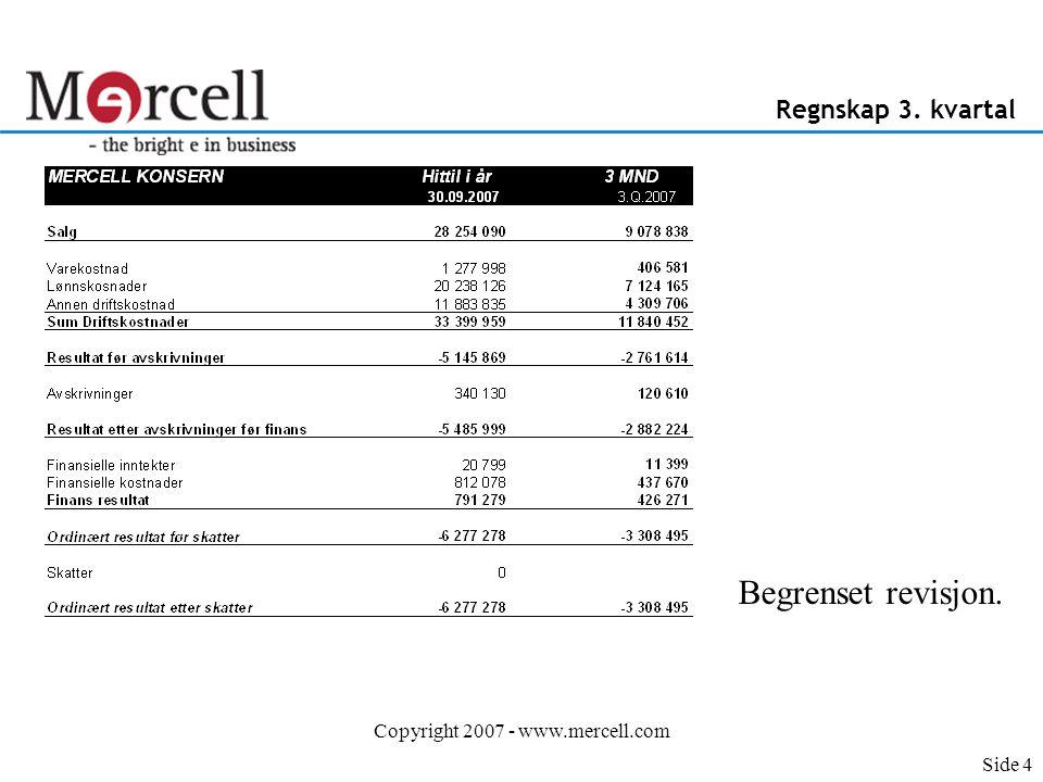 Copyright 2007 - www.mercell.com Nøkkeltall Norden 3.
