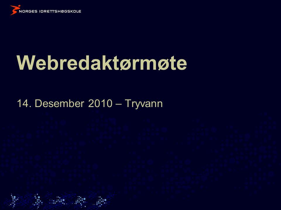 Webredaktørmøte 14. Desember 2010 – Tryvann