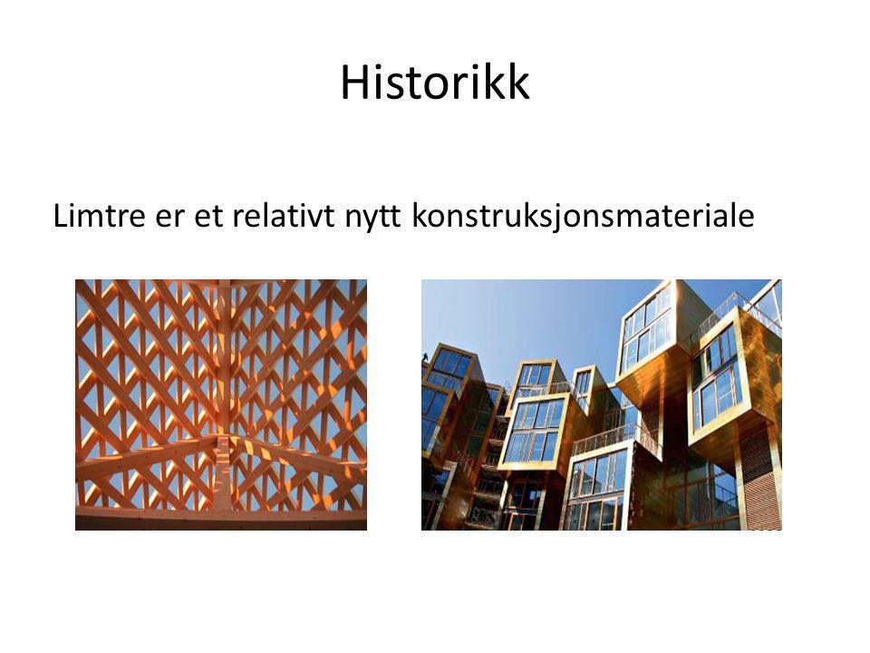 Historikk Limtre er et relativt nytt konstruksjonsmateriale