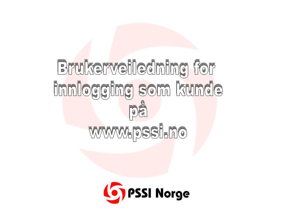 Forsiden til www.pssi.no som du møter førstwww.pssi.no