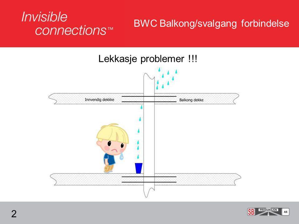 BWC Balkong/svalgang forbindelse Lekkasje problemer !!! 2