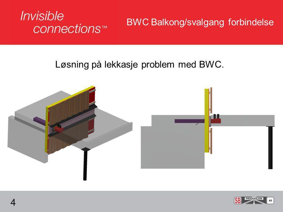 Løsning på lekkasje problem med BWC. 4