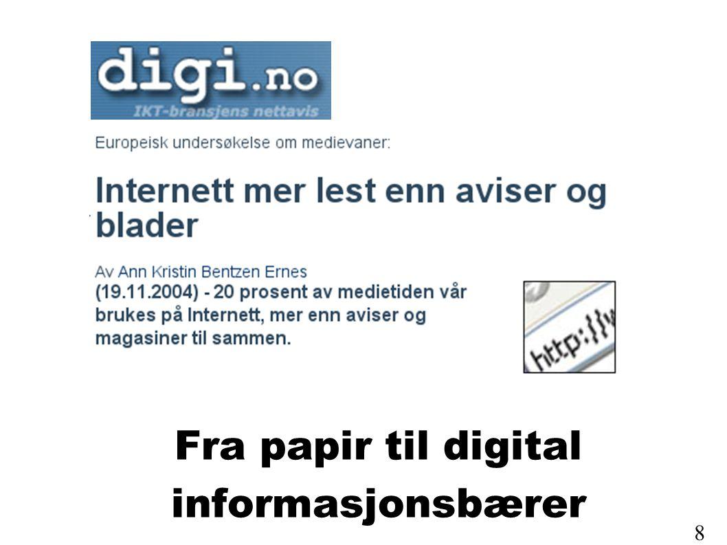 Fra papir til digital informasjonsbærer 8