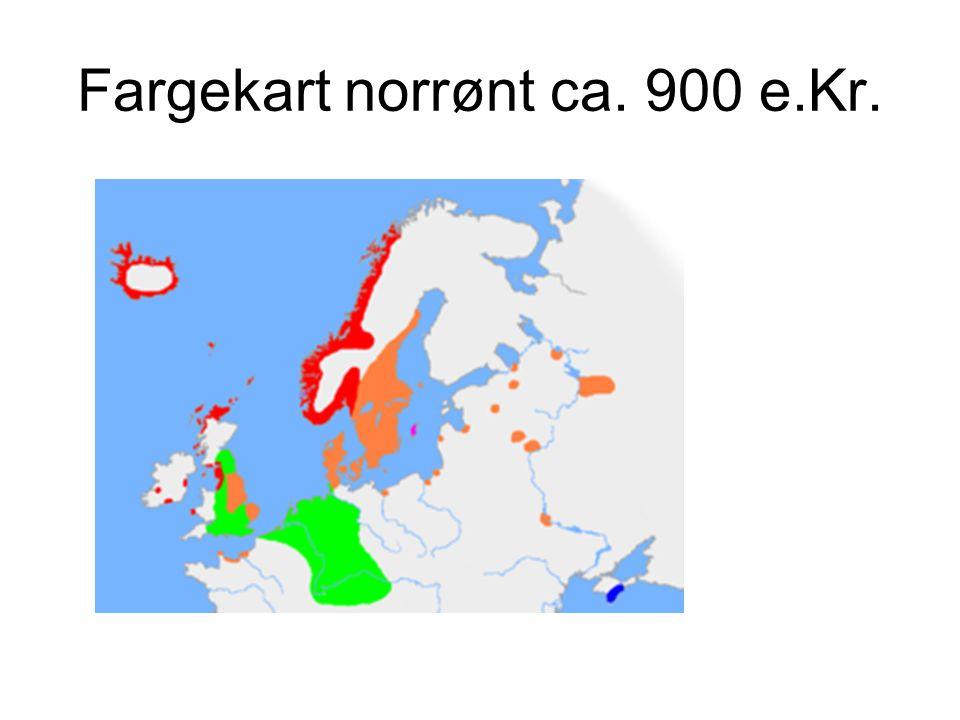 Fargekart norrønt ca. 900 e.Kr.