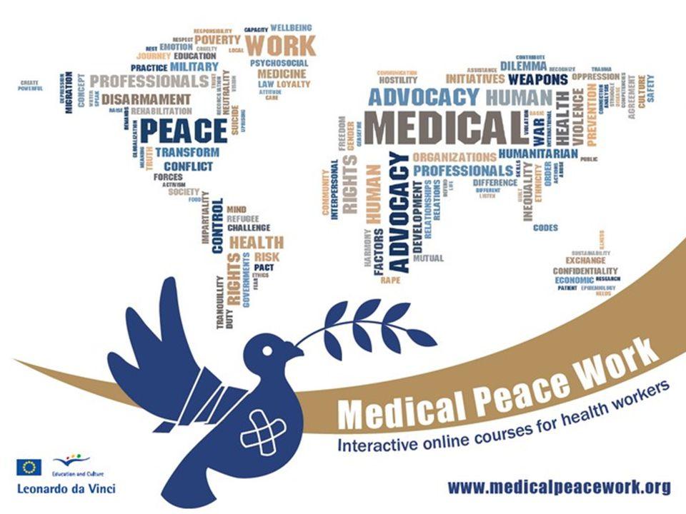 Mål for opplæringen (2) • belyse bredden av muligheter helsepersonell har til å bidra til å redusere fredsunderskudd.