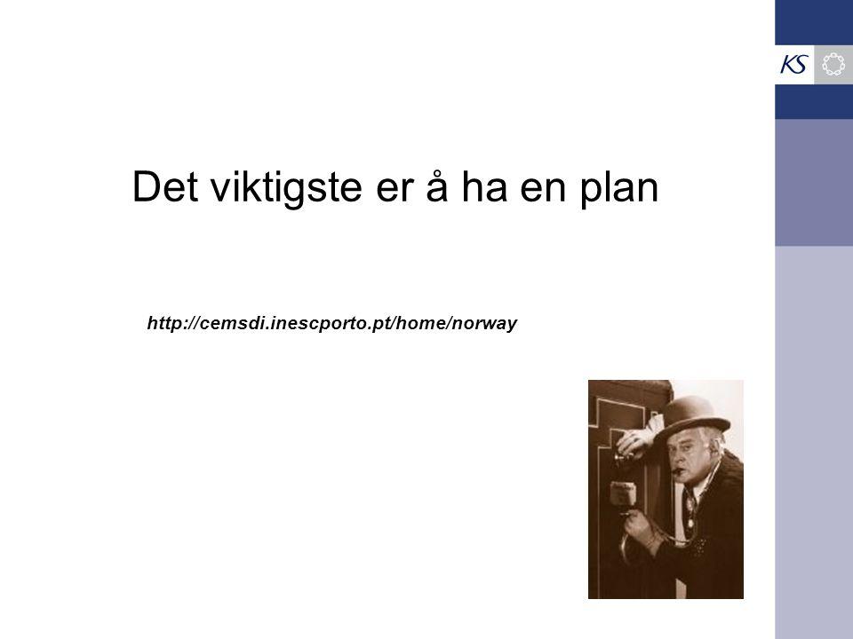 Det viktigste er å ha en plan http://cemsdi.inescporto.pt/home/norway